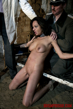 Babe bound to a bed gets choked and forced to suck on a dildo. - XXXonXXX - Pic 15