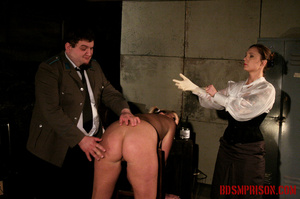 Blonde in pigtails wearing white shoes gets fingered and whipped in the interrogation room. - XXXonXXX - Pic 2