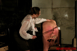 Blonde in pigtails wearing white shoes gets fingered and whipped in the interrogation room. - XXXonXXX - Pic 6