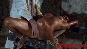 Diabolic doctor waterboards and gropes a naked girl on a bench. - XXXonXXX - Pic 2
