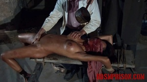 Diabolic doctor waterboards and gropes a naked girl on a bench. - XXXonXXX - Pic 5