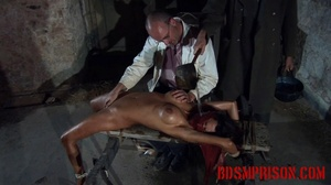Diabolic doctor waterboards and gropes a naked girl on a bench. - XXXonXXX - Pic 7