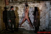 naked blonde hung from