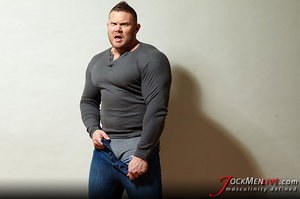 Huge hung flaunting his big muscular body for your pleasure - XXXonXXX - Pic 10