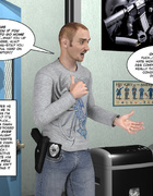 Fat toon blondie in cuffs gets her snatch…
