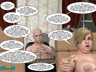 Nude cartoon blonde fatty enjoys her Martini - Picture 2