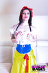 Hot babe in Snow White's costume exposing her…