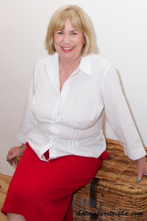 Old blonde chick takes off her white blouse then bares her mature breasts before she strips down her red skirt and displays her huge butt wearing her red high heels by the window. - XXXonXXX - Pic 4
