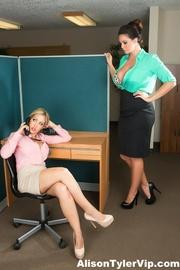 office sluts black undies