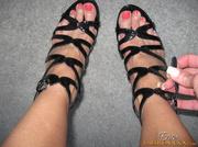 several sets alluring feet