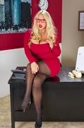 black, individual model, smoking, stockings