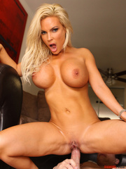 busty blonde cock sucker