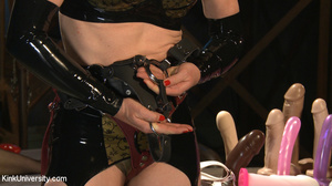 Dildo and strap-on fun in bed between tw - XXX Dessert - Picture 3