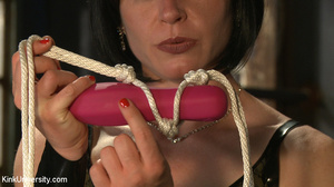Dildo and strap-on fun in bed between tw - XXX Dessert - Picture 5