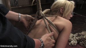 Two chicks get bound with rope and suspe - XXX Dessert - Picture 11