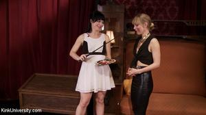 Lesbian domination between a brunette in - XXX Dessert - Picture 1