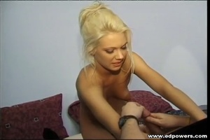 Beautiful blonde hottie opens her legs wide as she lays naked on a green bed then lets an old guy lick her pussy before she sucks his cock then lets him bang her in doggy and missionary positions. - XXXonXXX - Pic 13