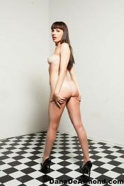 alluring brunette vixen takes