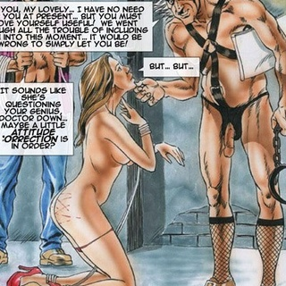 Cool comics with old fart in fishnet - BDSM Art Collection - Pic 2