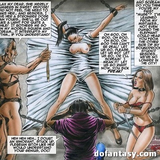 Cool comics with old fart in fishnet - BDSM Art Collection - Pic 3
