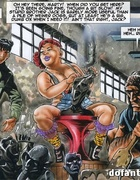 Unbelievable porn comics with hardcore bdsm orgy where bound slave girls