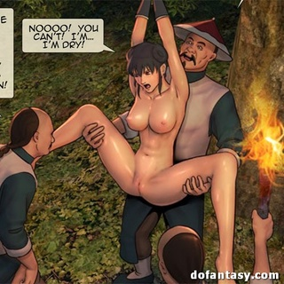Big-titted brunette hottie with roped - BDSM Art Collection - Pic 1
