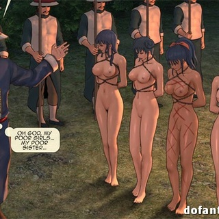 Four toon naked girls in shinju with - BDSM Art Collection - Pic 3