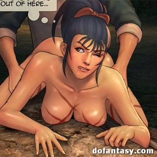 Boobed ponytailed hottie gets bound and - BDSM Art Collection - Pic 2