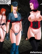 Blonde toon hottie gets tortured with ropes and mistresses in uniform