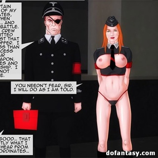 Gagged redhead gets jeered by two - BDSM Art Collection - Pic 1