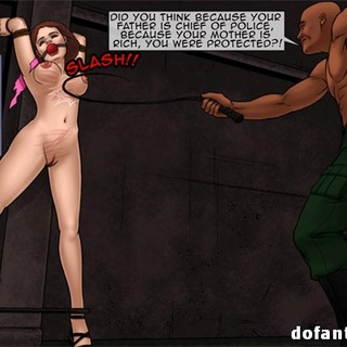 Two dudes pissing into bound and - BDSM Art Collection - Pic 2