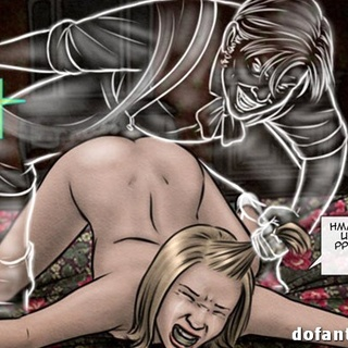Bound and suspended on chains blonde - BDSM Art Collection - Pic 1