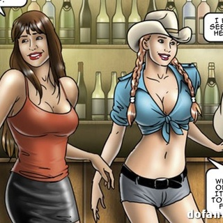 Busty cowgirl with plaits in a hat and - BDSM Art Collection - Pic 1