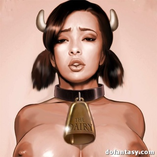Enslaved girls in horns, hoots and with - BDSM Art Collection - Pic 1
