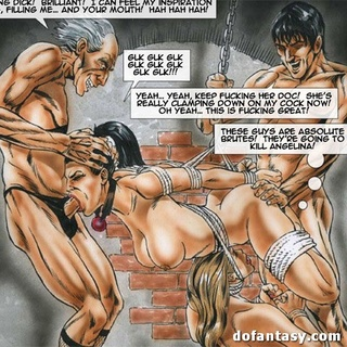 Dirty cartoon orgy with busty hotties - BDSM Art Collection - Pic 1