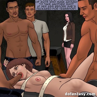 Group of horny black dudes jeering and - BDSM Art Collection - Pic 3