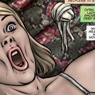 Bound blonde toon girl gets banged by a - BDSM Art Collection - Pic 3