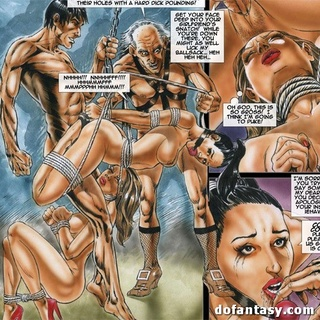 Enchained and bound toon girls getting - BDSM Art Collection - Pic 2