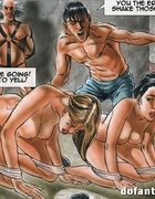 Hardcore toon orgy where enslaved girls getting fucked in bondage and