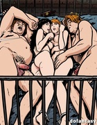 Filthy hardcore orgies with enslaved men and women in toon bdsm nest.