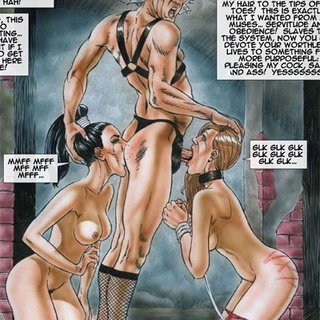 Bound chicks with snouts of a pig - BDSM Art Collection - Pic 3