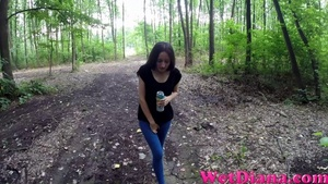 Tree becomes a perfect toilet for the young girlfriend - XXXonXXX - Pic 2