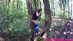 Tree becomes a perfect toilet for the young girlfriend - XXXonXXX - Pic 3