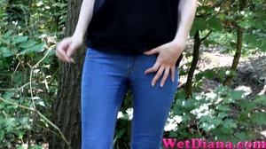 Slim-fit Diana takes off her denim pants after peeing - XXXonXXX - Pic 1
