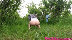 Cool babe with shaved pussy pisses in the fresh air - XXXonXXX - Pic 4