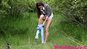 Tiny bald pussy of the dark-haired girl wants to pee - XXXonXXX - Pic 3