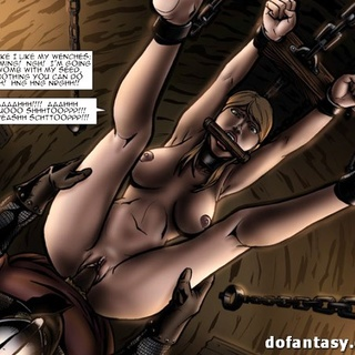 Gagged, enchained and suspended slave - BDSM Art Collection - Pic 4