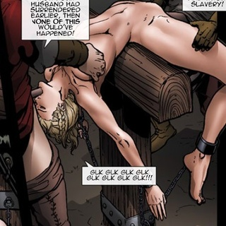 Enchained slave girls get treated like - BDSM Art Collection - Pic 3