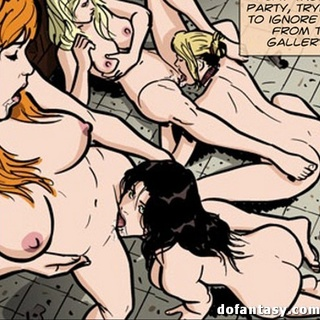 Holy man gets a hot foursome lesbian - BDSM Art Collection - Pic 1