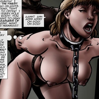 Enslaved blondie in chains assfucked by - BDSM Art Collection - Pic 3